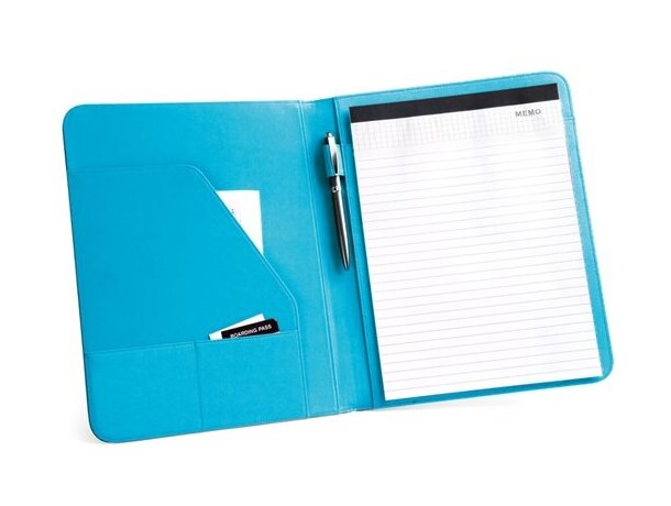 Portafolios a4 con banda de colores azul claro