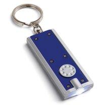 Llavero colores con linterna personalizado azul