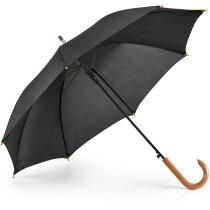 Paraguas mango de madera personalizado negro