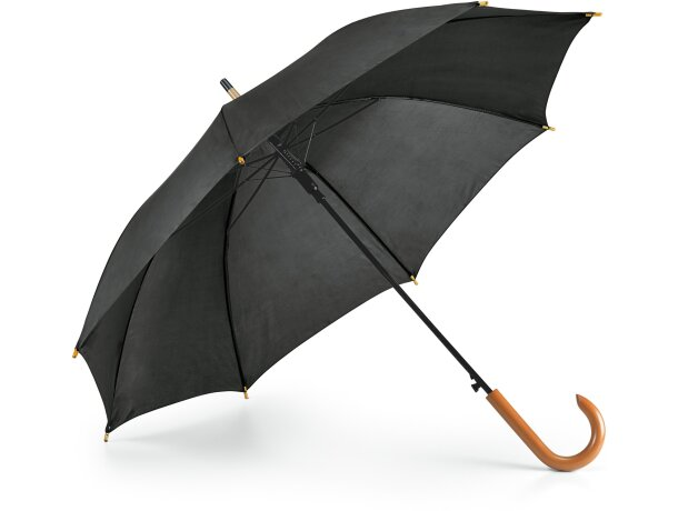 Paraguas mango de madera negro barato