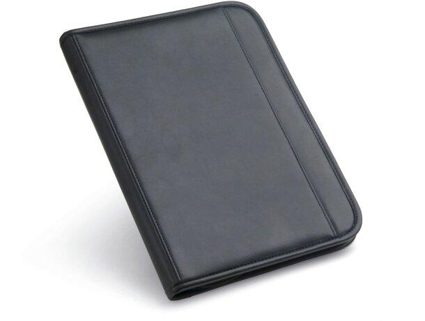 Portafolios A4 de polpiel con calculadora azul