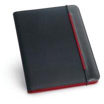 Portafolios A4 con banda de colores personalizado rojo