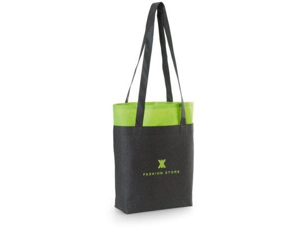Bolsa bicolor non woven 105 gr / m2 verde claro