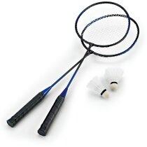 Juego de raquetas de bádminton barato negro
