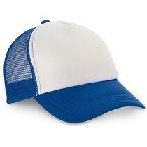 Gorra de rejilla con frontal blanco