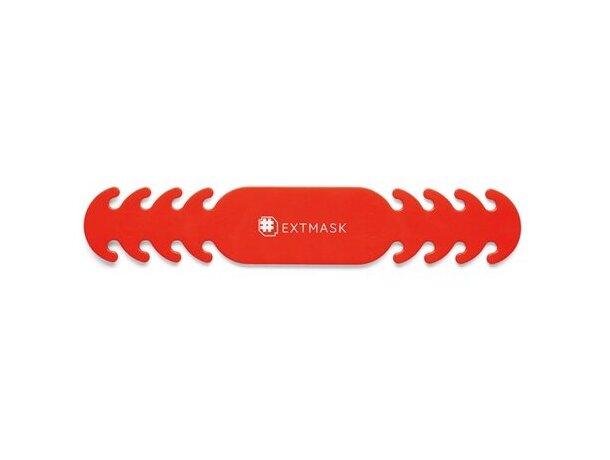 Extmask. correa de mascarilla ajustable rojo