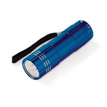 Linterna de aluminio clásica 9 leds personalizada azul