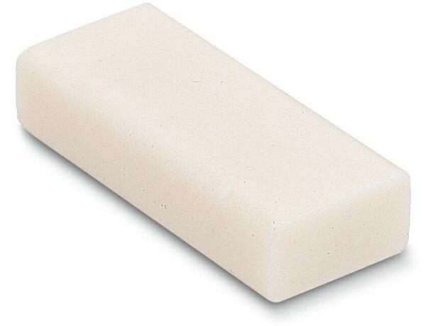 Goma de borrar pequeña blanca personalizado
