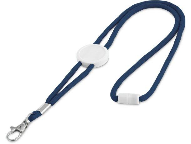 Lanyard barato ajustable con enganche azul