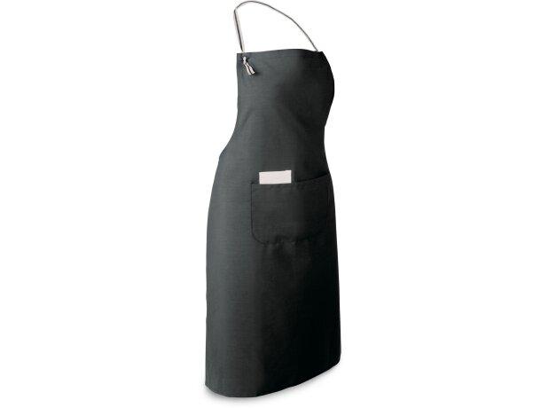 delantal con bolsillo de colores en poliester grabado negro