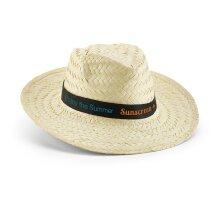 Sombrero de paja clara personalizado natural