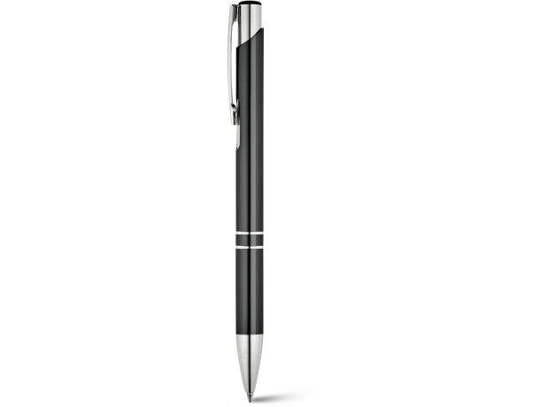 Bolígrafo clásico en acabado metalizado personalizado negro