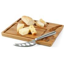 Tabla de madera para cortar quesos personalizada natural