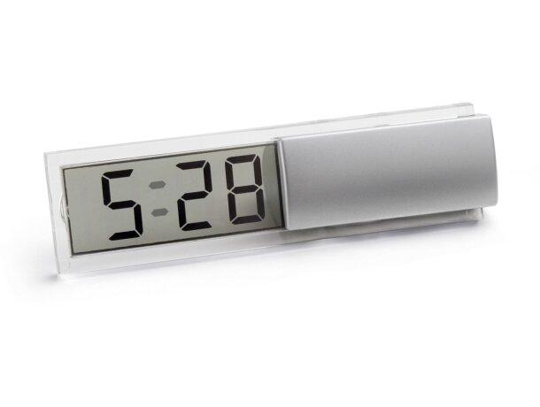 Reloj de viaje con calendario personalizado cromado satinado