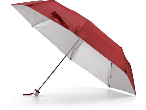 Paraguas plegable para bolso personalizado burdeos