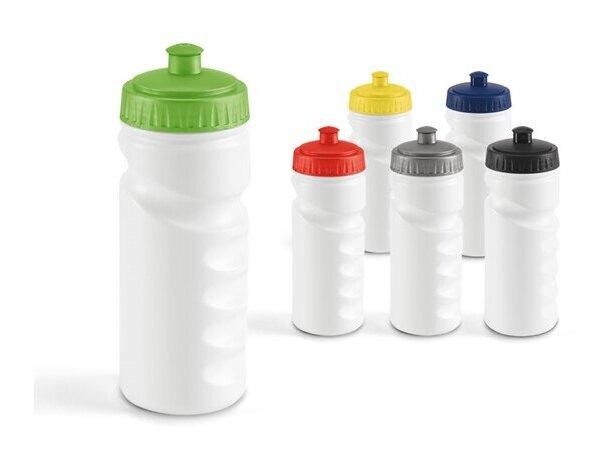 Botella deportiva con cuerpo blanco 550 ml