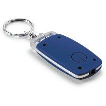 Llavero con linterna de abs y aluminio personalizado azul