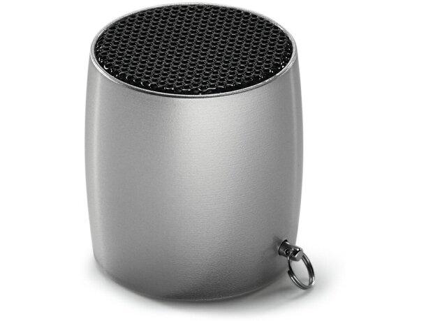 Mini altavoz con micrófono.y bluetooth cromado satinado