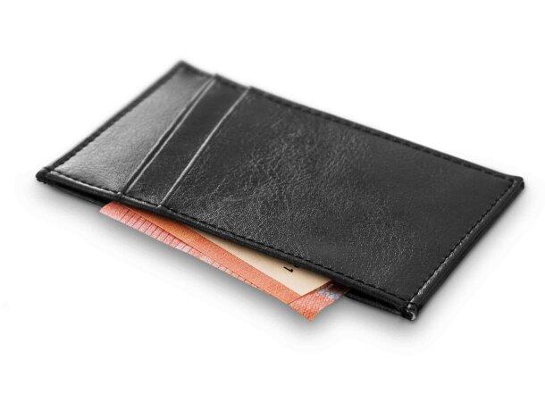 Porta tarjetas sencillo de piel personalizado