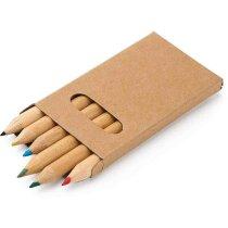 Estuche con 6 lápices de color personalizado