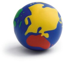 Antiestrés con forma de bola del mundo personalizado