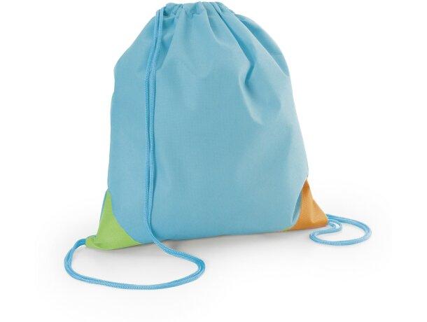Petate de non woven con esquinas de colores personalizado azul claro