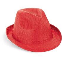 Sombrero de verano sin cinta rojo