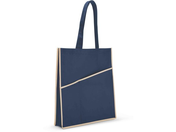Bolsa con 2 bolsillos frontales azul