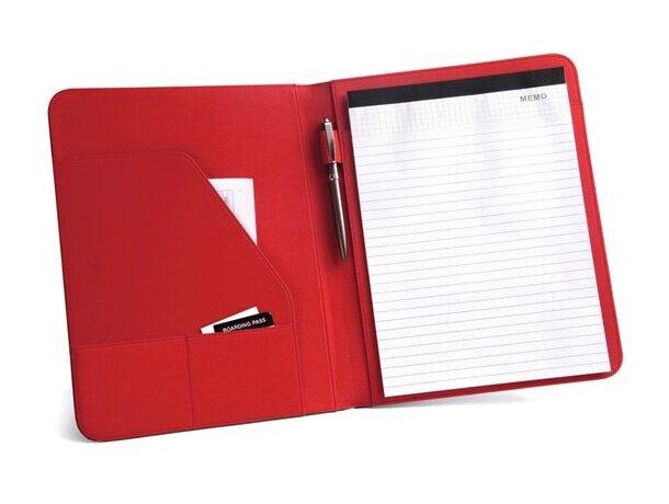Portafolios a4 con banda de colores rojo