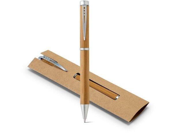 Bolígrafo en bambú con estuche ecológico