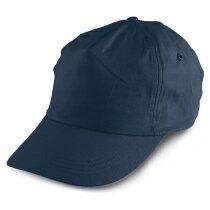 Gorra sencilla de colores talla de niño personalizada azul