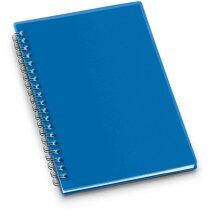 Libreta con tapas de colores rígidas azul