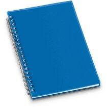 Libreta con tapas de colores rígidas personalizada azul
