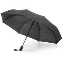 Paraguas plegable con goma negro