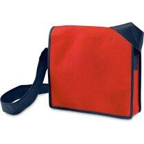 Maletín bandolera de material non woven rojo personalizada