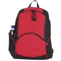 Mochila deportiva con bolsillo delantero roja