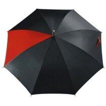 Paraguas automático con 1 gajo combinado personalizado rojo