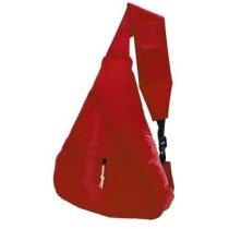 Bandolera con asa con bolsillo para móvil roja