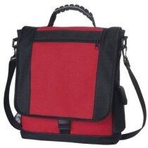Maletín con bolsillo acolchado para portátil personalizado rojo