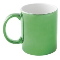 Taza de cerámica básica colores metalizados verde