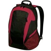 Mochila con bolsillos y compartimento para ordenador personalizada roja
