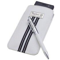 conjunto de funda con bolígrafo blanco