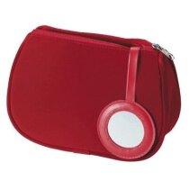 Neceser con espejo incorporado personalizado rojo