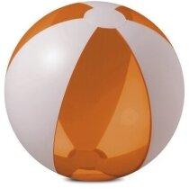 Pelota de playa con segmentos de colores personalizada naranja