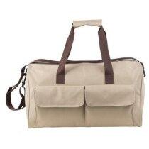Bolsa de viaje con dos bolsillos frontales personalizada natural