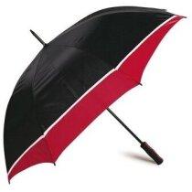 Paraguas automático con mango de eva y combinado personalizado rojo