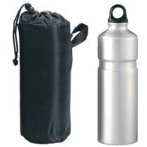 Botella de aluminio con funda 750 ml personalizada gris claro