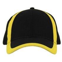 Gorra de deporte en algodón con colores combinados amarilla