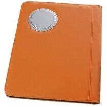 Carpeta de conferencias con calculadora personalizada naranja