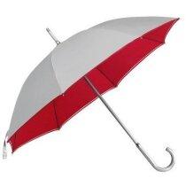 Paraguas gris con interior de color barato rojo